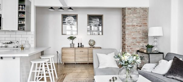 Diseño interior cocina salon